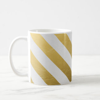 Golden Stripe Chic Mug
