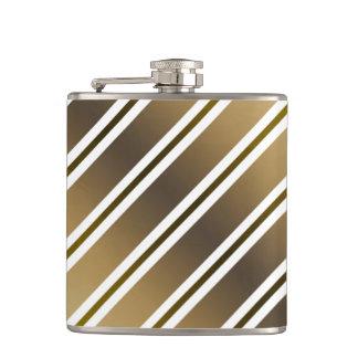 Golden stripes hip flask