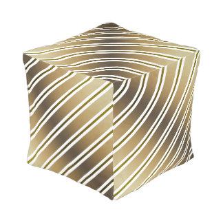 Golden stripes pouf