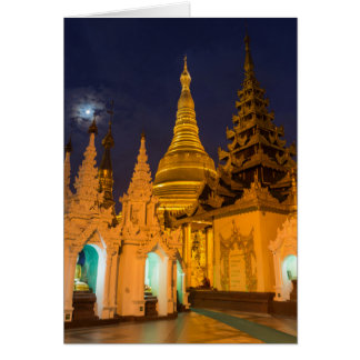 Golden Stupa And Temples Card