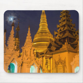 Golden Stupa And Temples Mouse Pad