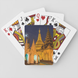 Golden Stupa And Temples Playing Cards