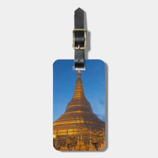Golden Stupa Pagoga Luggage Tag