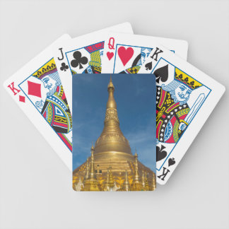 Golden Stupa Temple Bicycle Playing Cards