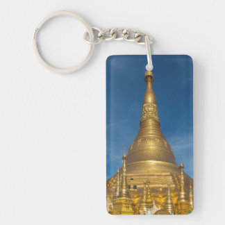 Golden Stupa Temple Keychain