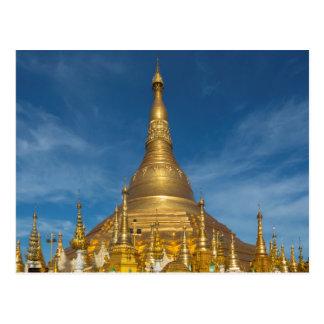 Golden Stupa Temple Postcard