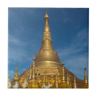 Golden Stupa Temple Tile