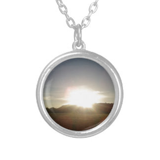 Golden Sun 1 Silver Plated Necklace