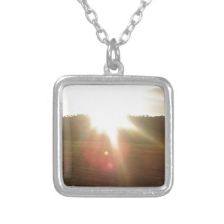 Golden Sun 2 Silver Plated Necklace