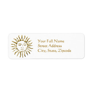 Golden Sun Address Return Label Return Address Label