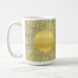 Golden Sun Background Coffee Mug