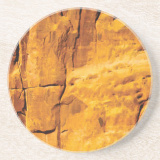 golden sun kissed stone coaster