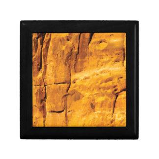 golden sun kissed stone gift box