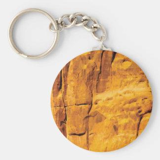golden sun kissed stone keychain