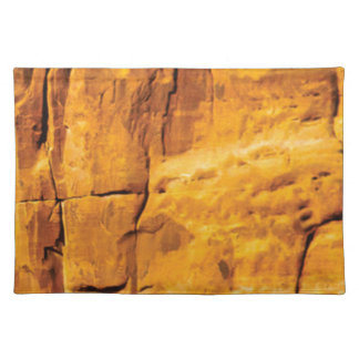 golden sun kissed stone placemat