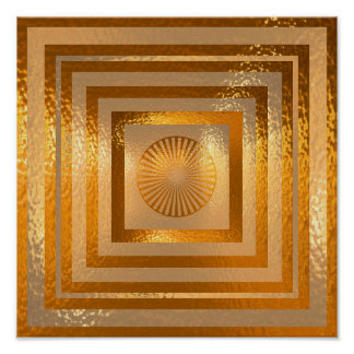 Golden Sun Mandala - Warm Regards Poster
