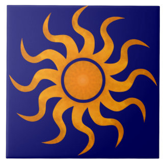 Golden Sun Midnight Blue Tile - Large