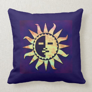 Golden Sun on Purple Throw Pillow