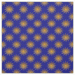 Golden Sun Pattern by Shirley Taylor Fabric