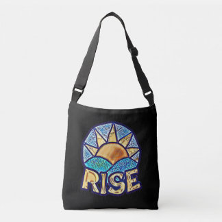 Golden Sun Rise ~ Uplifting Message Crossbody Bag