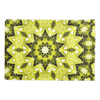 Golden Sun Spiritual Mandala Fractal Art Pillowcase