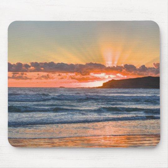Golden Sunbeams Over Ocean Mouse Pad