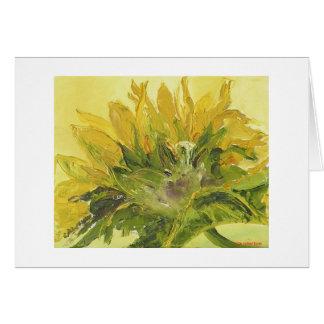 Golden Sunflower Card