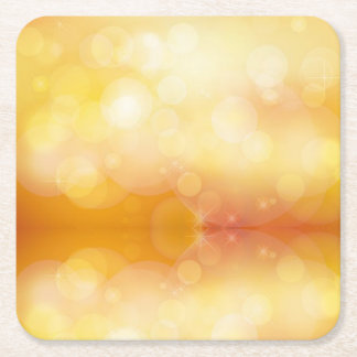 Golden Sunlight Square Paper Coaster