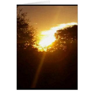 golden sunrise blank card