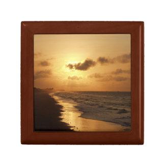 Golden Sunrise on Wooden Box