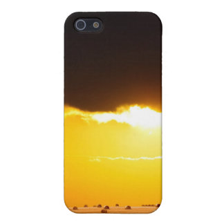 Golden sunset across farmland of wheat and hay bai iPhone 5/5S covers