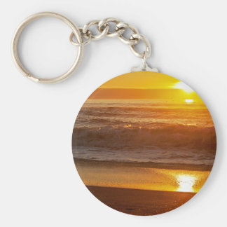 Golden Sunset at Horsfall Beach Keychain