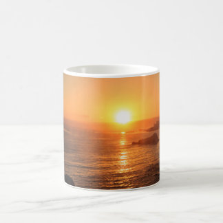 Golden sunset for special moments in the summer coffee mug