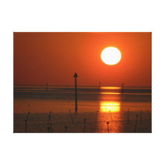 Golden Sunset His Palette Canvas Print