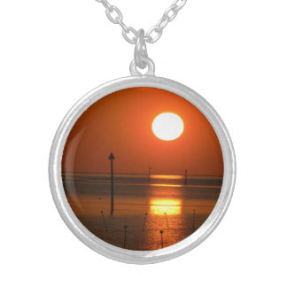 Golden Sunset His Palette Silver Plated Necklace