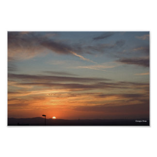 Golden Sunset in Sardinia - Italy Poster