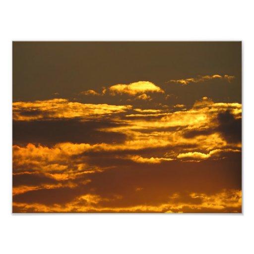 Golden Sunset mousepad print Photographic Print