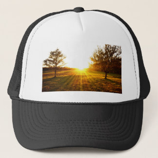 Golden Sunset on the Island Trucker Hat