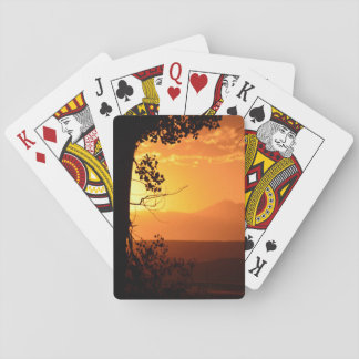 Golden Sunset Playing Cards