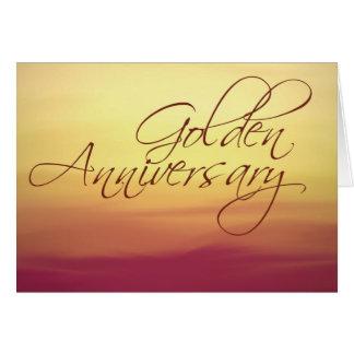 Golden Sunset  Wedding Anniversay Card