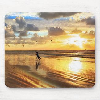 Golden Surf Sunset Mousepad