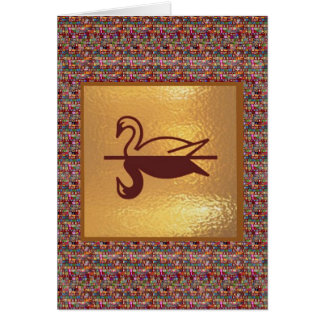 Golden SWAN - Happy Holidays Decorations Greeting Cards