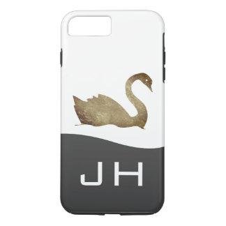 Golden Swan / Monogram iPhone 8 Plus/7 Plus Case