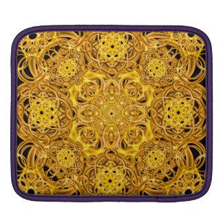 Golden Swirls Mandala Sleeve For iPads