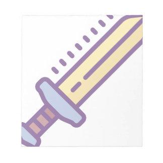 Golden Sword Notepad