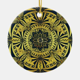 Golden Symmetry Mandala Ornament