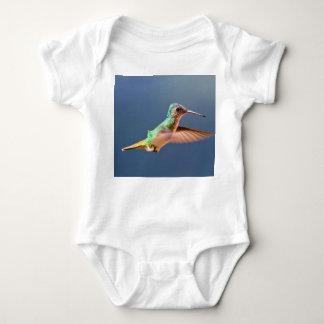 Golden Tailed Sapphire Hummingbird in Flight Baby Bodysuit