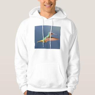 Golden Tailed Sapphire Hummingbird in Flight Sweatshirts