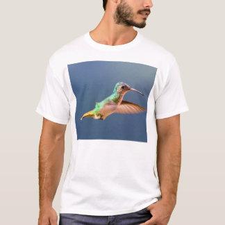Golden Tailed Sapphire Hummingbird in Flight T-Shirt