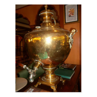 Golden tea Pot Postcard